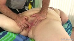 Naughty MILF Rubs Huge Clit and Big Lips Hard Clenching Orgasm Thumb