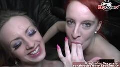 Sexy lesbians tribbing in yoga pants Thumb