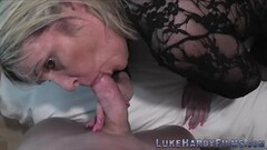 Horny Husband Blows Up Phone While Tall Ebony MILF Wife Fucks Thumb