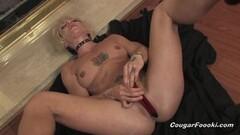 Naughty mature aunt masturbating with a vibrator Thumb