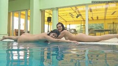 Lady and Lizzy wet underwater lesbians Thumb