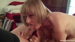 British sexy mature Lady Sonia teases as she cleans Thumb