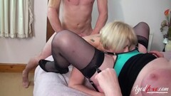 Heated Stepmom examines all of stepdaughters holes Thumb