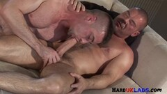 Hot Assfucked stud cums while sucking brits cock Thumb