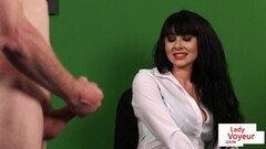 Kinky Krissy Lynn searches hung shoplifter and rides his cock Thumb