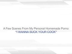 I WANNA SUCK YOUR COCK – HUGE FACIAL CUMSHOT WIFE Thumb