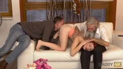 DADDY4K. Submissive redhead enjoys pussy fingering for bearded daddy Thumb