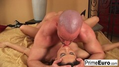 Sexy Mia Malkova and Olive Glass pussy smashed in the kitchen Thumb