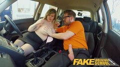 Big Boobs Bouncing in driving lesson Thumb