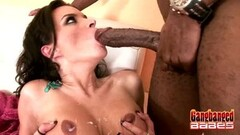 Blonde Lyra Law stuffs her mouth with cock Thumb