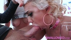 Mature blondes share this hard dick Thumb