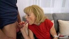 AgedLovE Blonde Mature Fucked Hard By Horny Toyboy Thumb