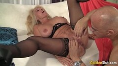 Mature Blonde Crystal Taylor Is Boned by a Fat Cock Thumb