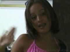 Gorgeous Latina enjoys her bj and facial Thumb