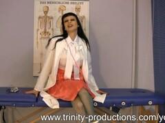 Busty MILF nurse femdom strapon handjob Thumb