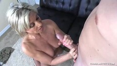 Blonde With Natural Tits Gets Her Jizz Load Thumb