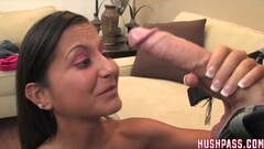 My First Black Monster Cock 2, Tight slut chokes on big dick Thumb