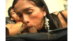 Horny black lesbian Tristina Mills squirts with a vibrator Thumb