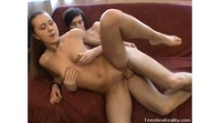 Mouth full of cum after anal Thumb