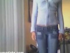 Stunning teen stripping and masturbating Thumb