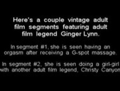 Adult film legend Ginger Lynn in a Double Feature Thumb
