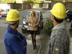 Nicolette Blue  HouseWife fucked by two construction Workers Thumb