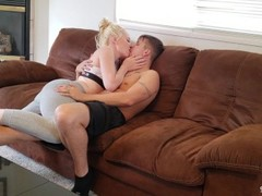 Intimate blowjob REAL Couple - Deepthroat Cum in Mouth Thumb