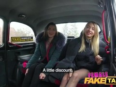 Female Fake Taxi Cherry Kiss Anna Di and Hayli Sanders in lesbian threesome Thumb
