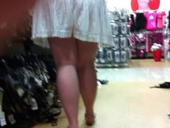 Shoe Shopping upskirt, No Panties Thumb