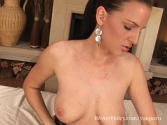 Hairy Walleria moans in pleasure Thumb
