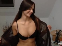 German brunette with nice tits and pierced nipples getting fucked Thumb