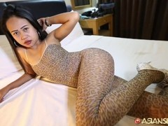 Asian Sex Diary - Asian hottie gets pussy unloaded in by big white dick Thumb