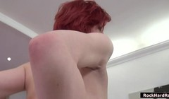 Redhead Grety licked and analed by Rocco Thumb