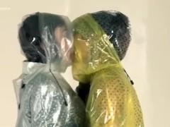 Breathplay plastic lesbian. Pvc latex plastic. Thumb