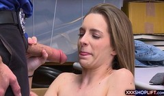 Teen shoplifter chick pays with a sloppy blowjob Thumb