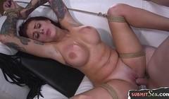 Tattooed slut punished and banged by dominant master Thumb