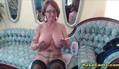 Mature MILF With Glasses and Huge Boobs Thumb