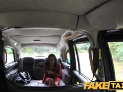 FakeTaxi Knee high boots in fishnet lingerie Thumb