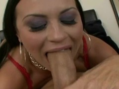 Big Tit Latina Slut loves to Deep throat while Gagging on a big cock Thumb