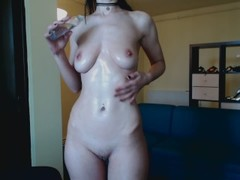 HD Romanian streaptease, oil body, bounce tities and masturbate hard Thumb