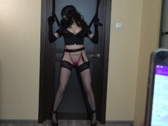 Tied police woman & fuck her with ohmibod and LELO remote control vibrators Thumb