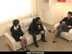 Extra spicy Akina Hara group sex on the couch - More at 69avs.com Thumb