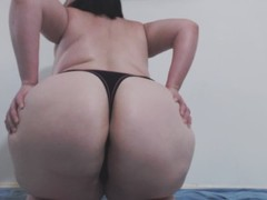 BBW WHOOTY GET'S COVERED IN SLIME - TINY THONG SLIPS RIGHT OFF Thumb