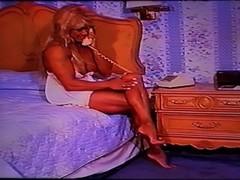 Vintage Voyeur Fantasy Black Lace Muscle Fetish with FBB Latia Thumb