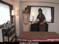 Erotic massage leads Maika to insane lesbian scenes - More at Japanesemamas.com Thumb