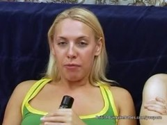 Little Sam takes huge cum on tits after creampie Thumb