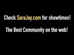 Round Rump Milf Sara Jay Teaches Young Black Jenna Foxx! Thumb