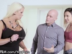 MILF Alura Jenson Loves Being Surprised By Hubby & Teen Mistress Thumb