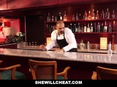 SheWillCheat - Slutty Wife Fucks BBC in Bathroom Thumb