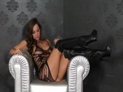 Hot Brunette Abigail Mac Uses Vibrator On Her Tight Pussy Thumb